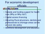 for economic development officials