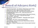 board of advisors hoaq