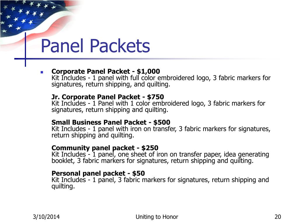 Panel Packets