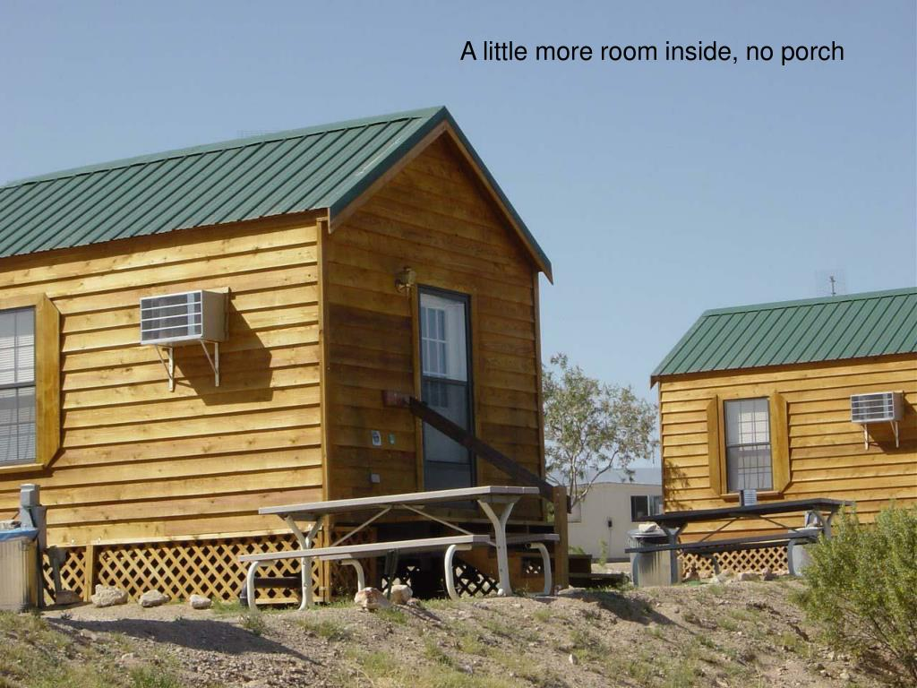 Cabin without porch