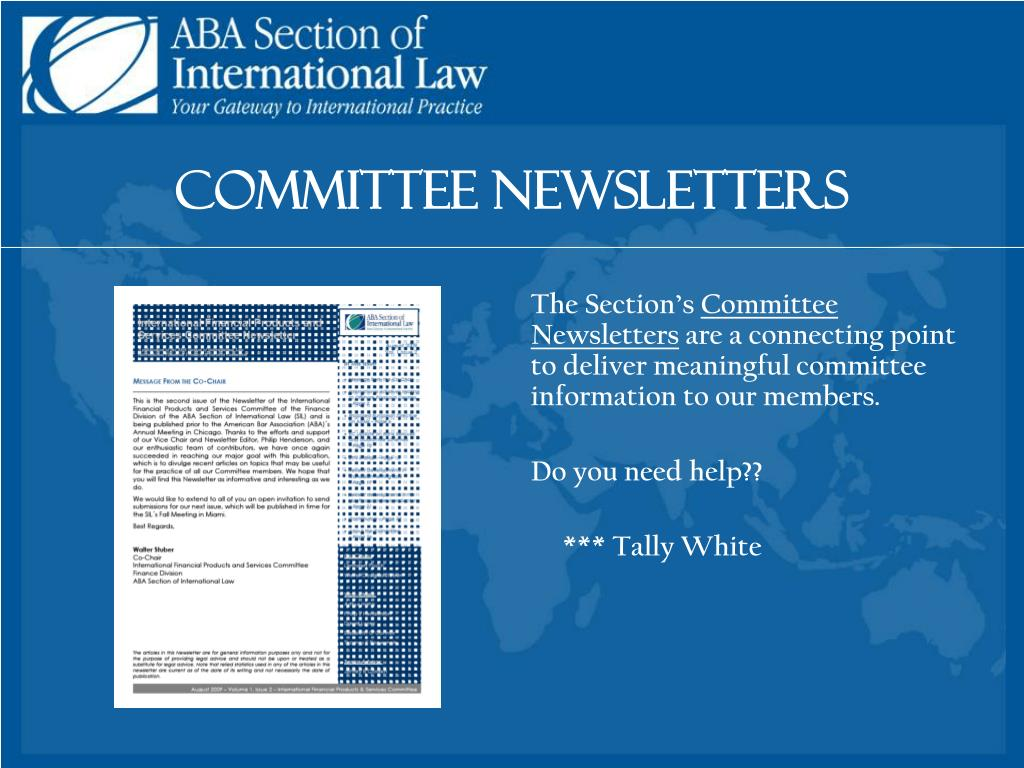 Committee Newsletters