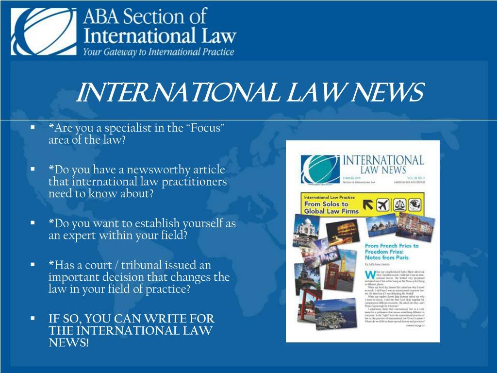 International Law News