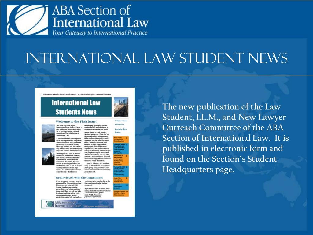 International Law Student News