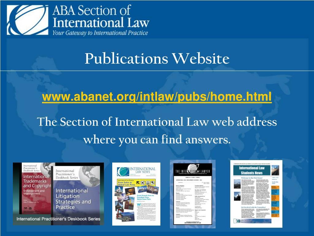 Publications Website