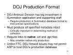 doj production format