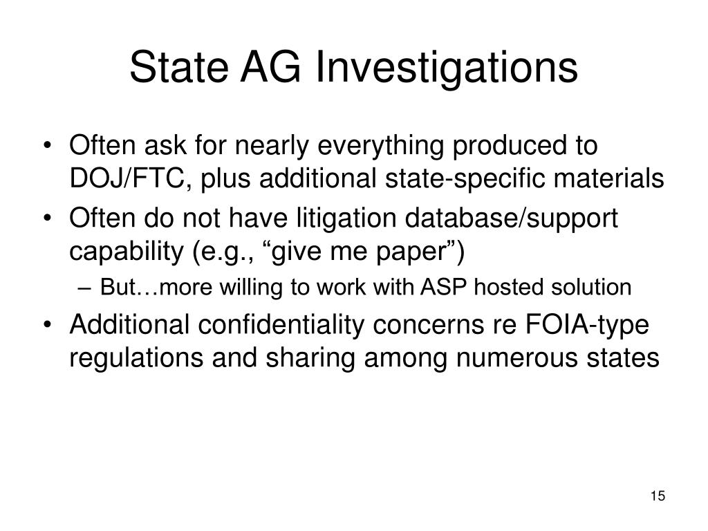 State AG Investigations