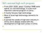 863 national high tech program