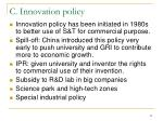 c innovation policy
