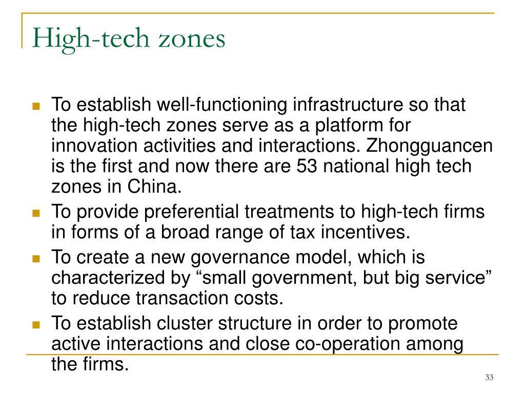 High-tech zones