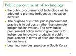 public procurement of technology