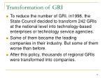 transformation of gri