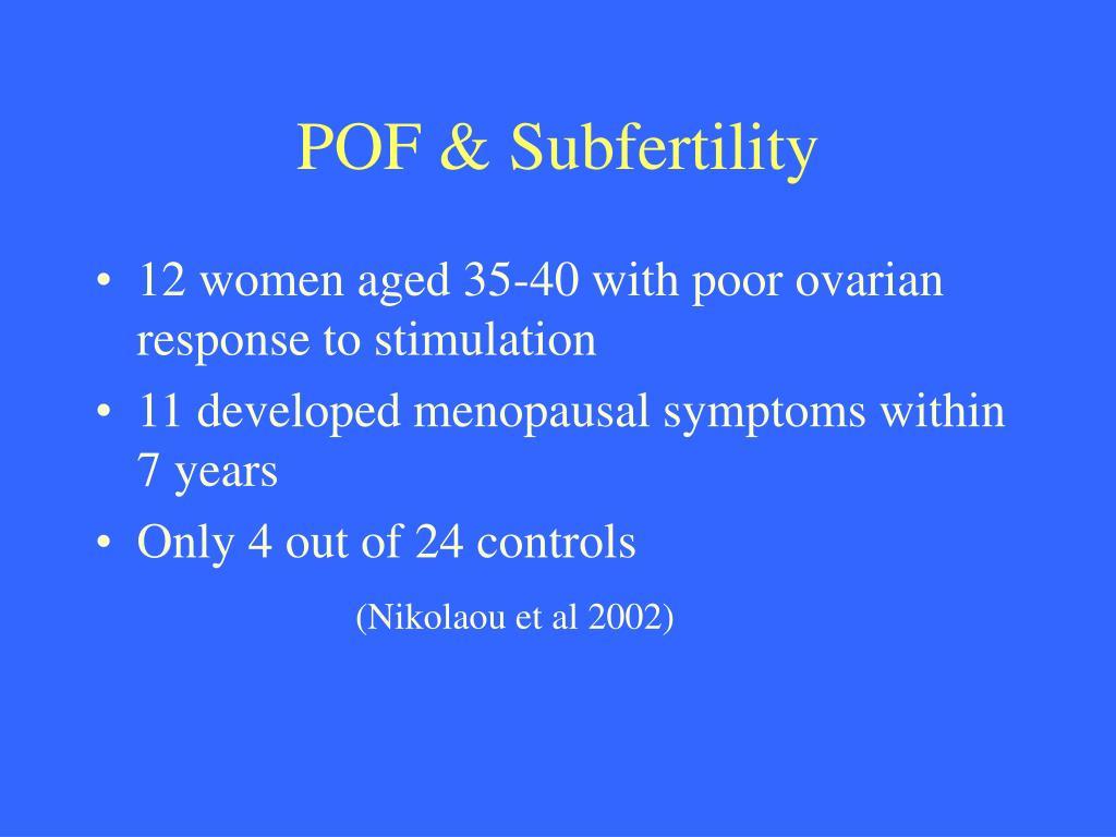 POF & Subfertility