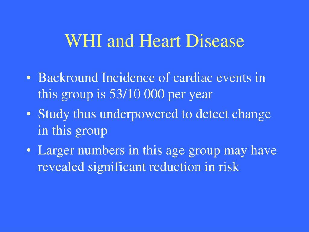 WHI and Heart Disease