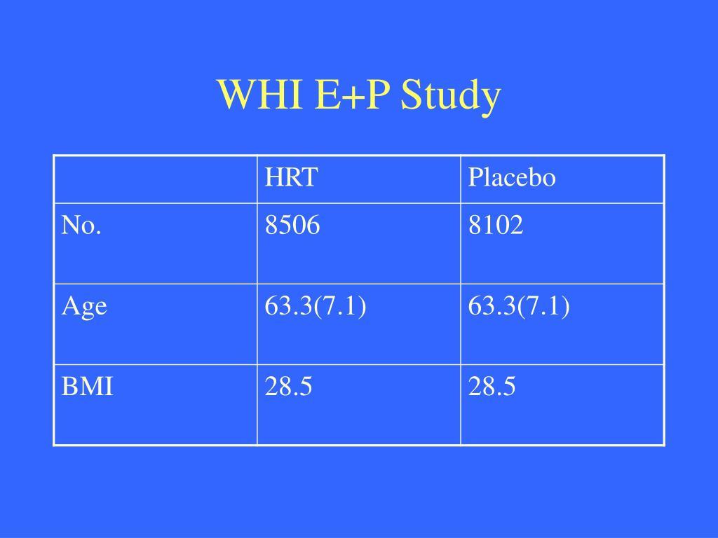 WHI E+P Study