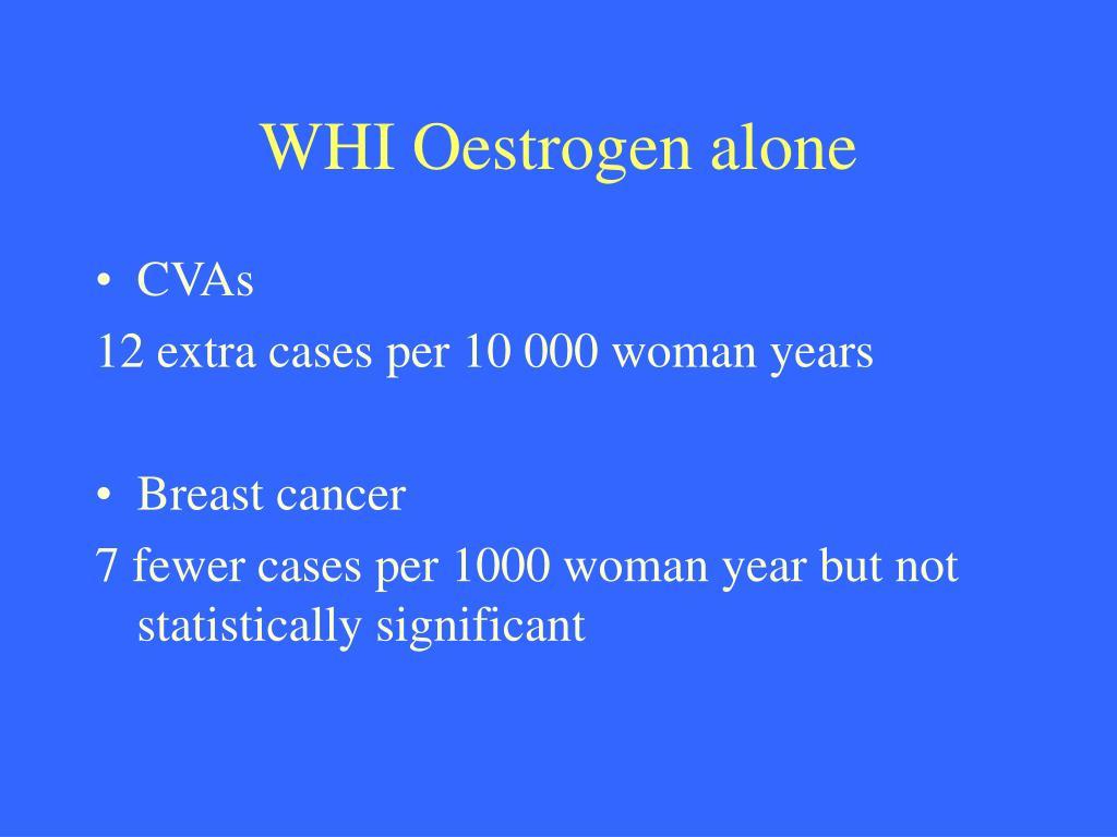 WHI Oestrogen alone