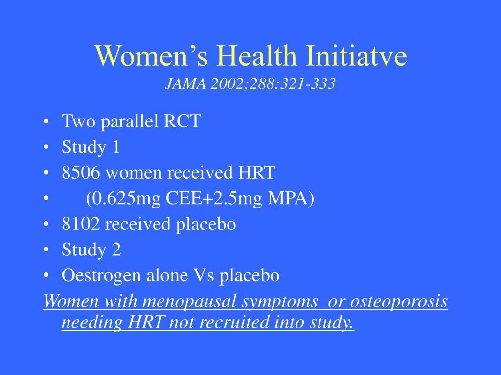 Women's Health Initiatve