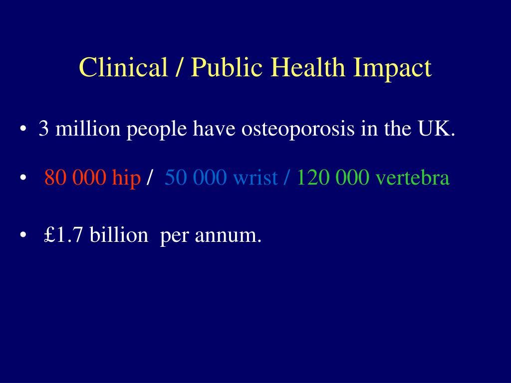 Clinical / Public Health Impact