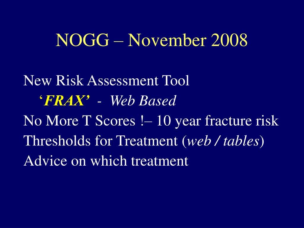 NOGG – November 2008