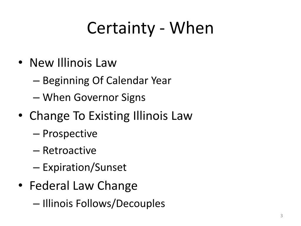 Certainty - When