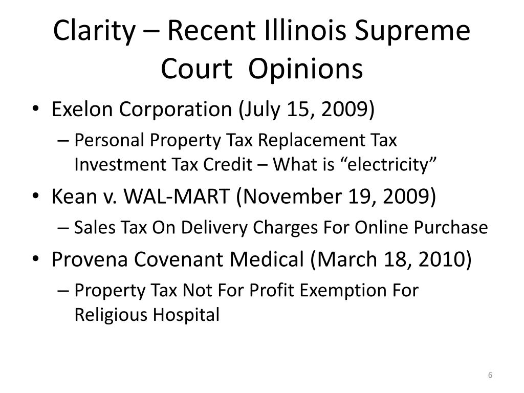 Clarity – Recent Illinois Supreme Court  Opinions