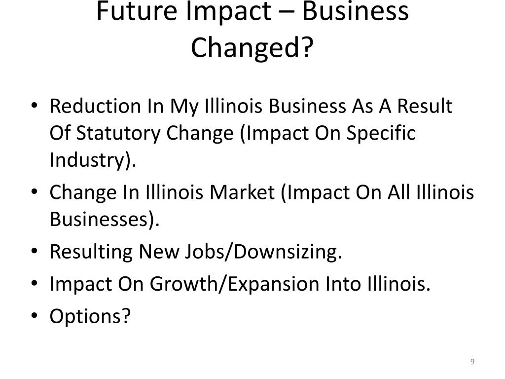Future Impact – Business Changed?