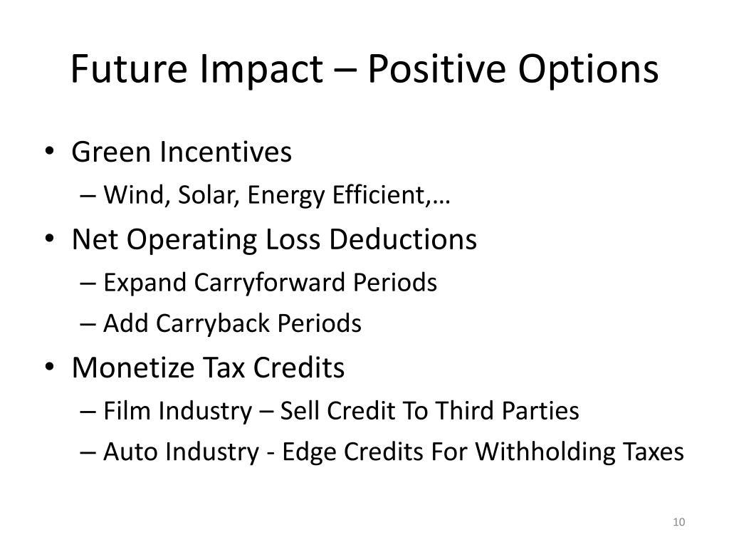 Future Impact – Positive Options