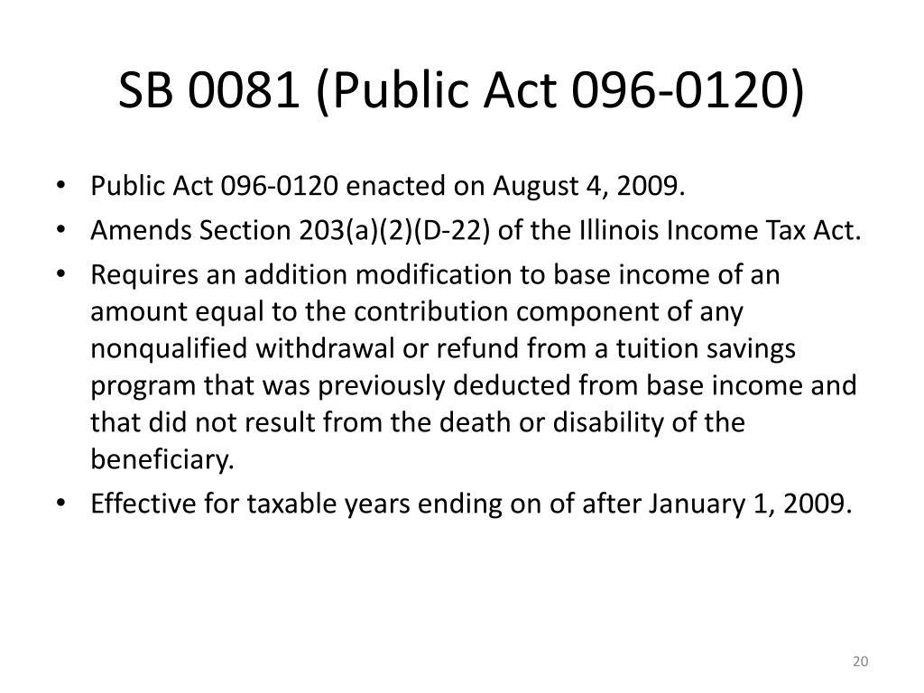 SB 0081 (Public Act 096-0120)
