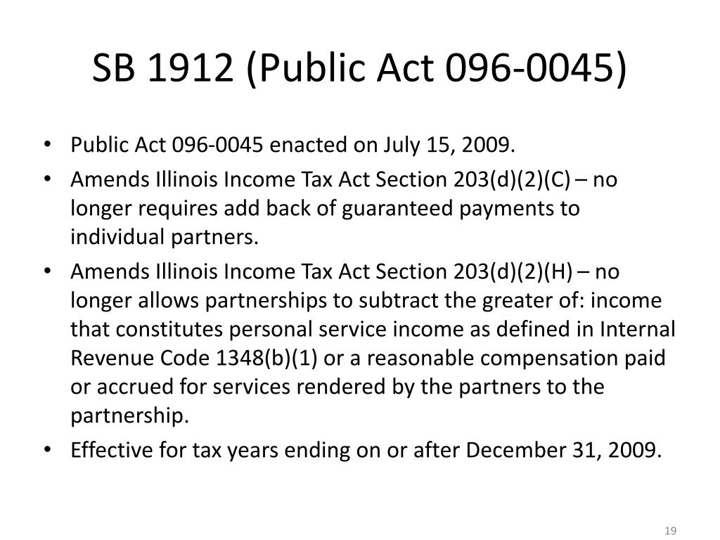 SB 1912 (Public Act 096-0045)