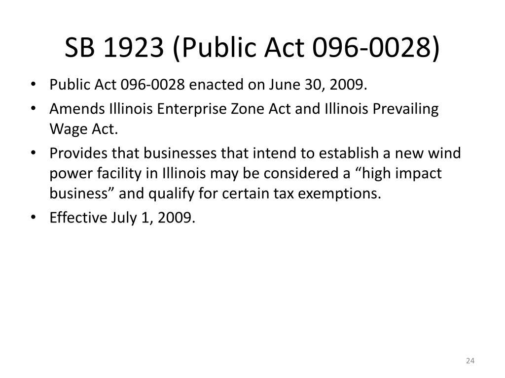 SB 1923 (Public Act 096-0028)