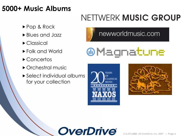 5000+ Music Albums