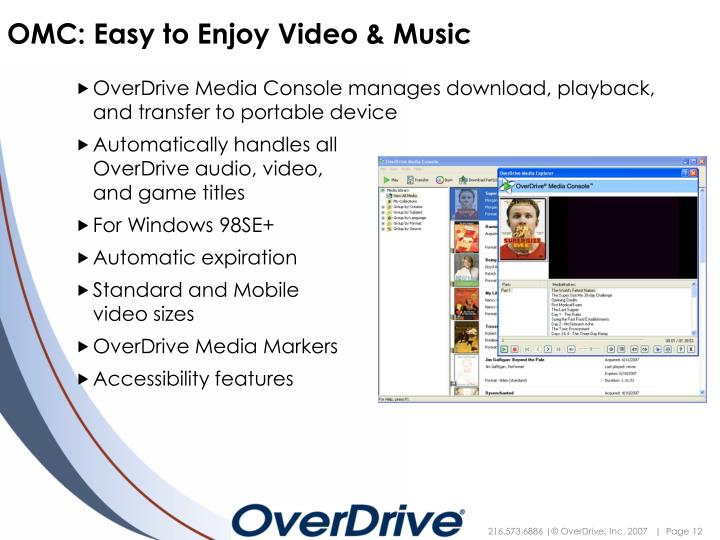 OMC: Easy to Enjoy Video & Music