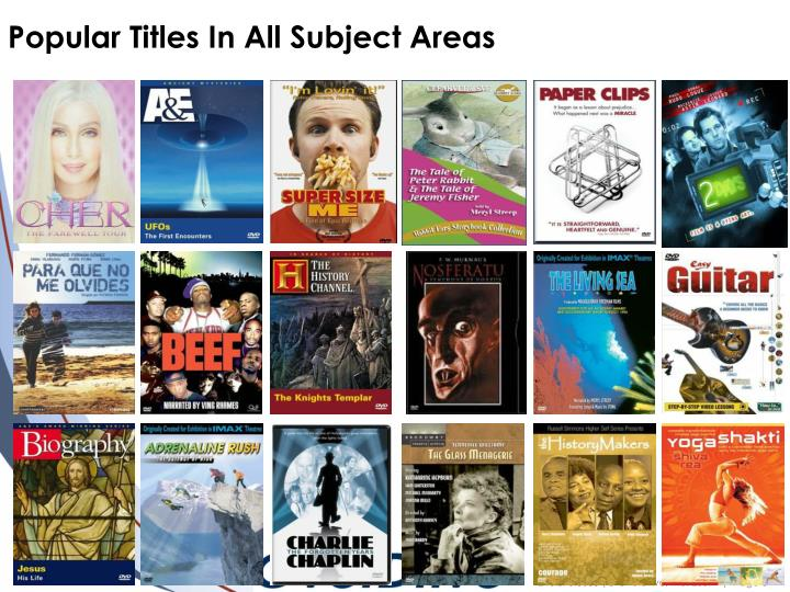 Popular Titles In All Subject Areas