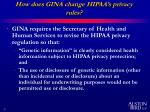 how does gina change hipaa s privacy rules