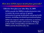 how does gina impact health plans generally