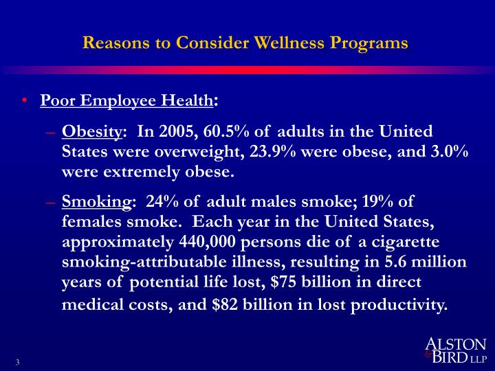 Reasons to consider wellness programs1