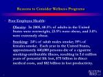 reasons to consider wellness programs1