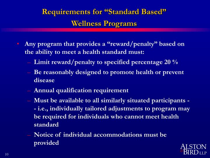 "Requirements for ""Standard Based"""