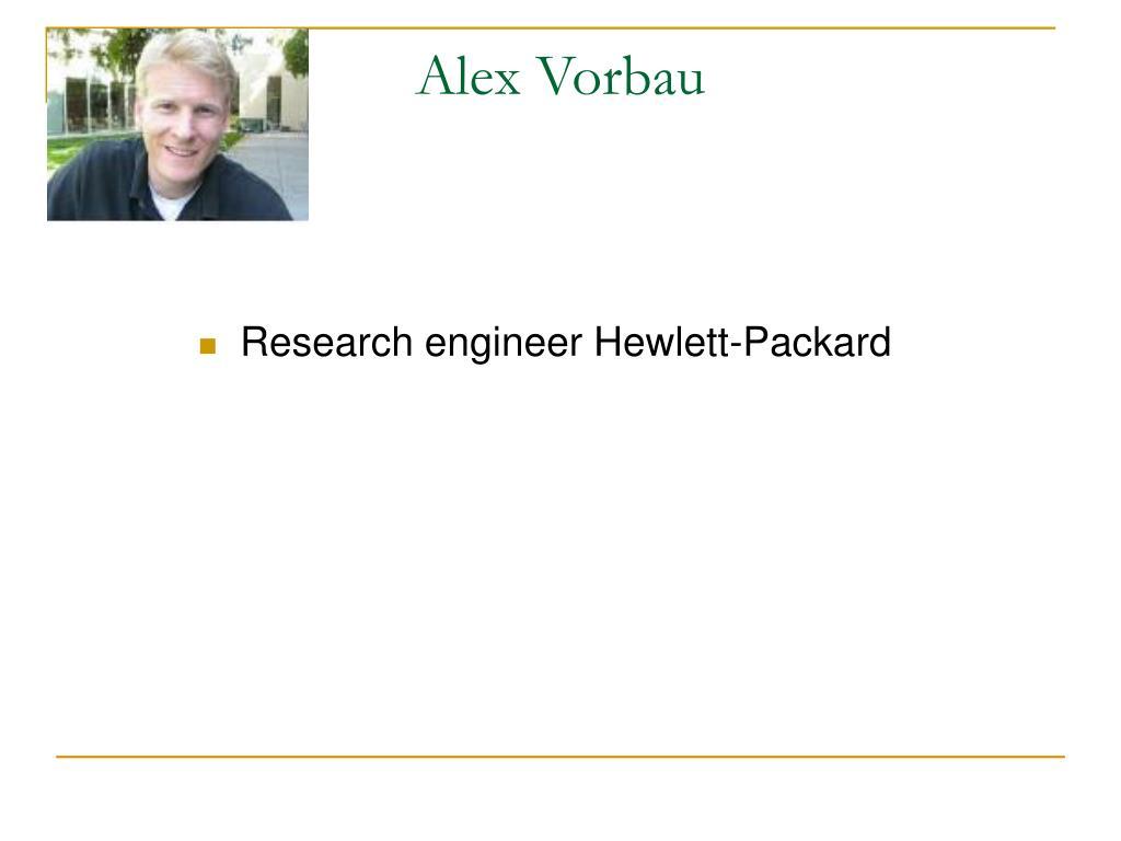 Research engineer Hewlett-Packard
