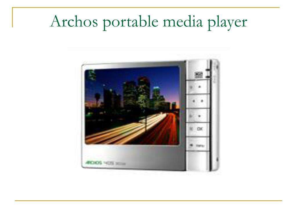 Archos portable media player
