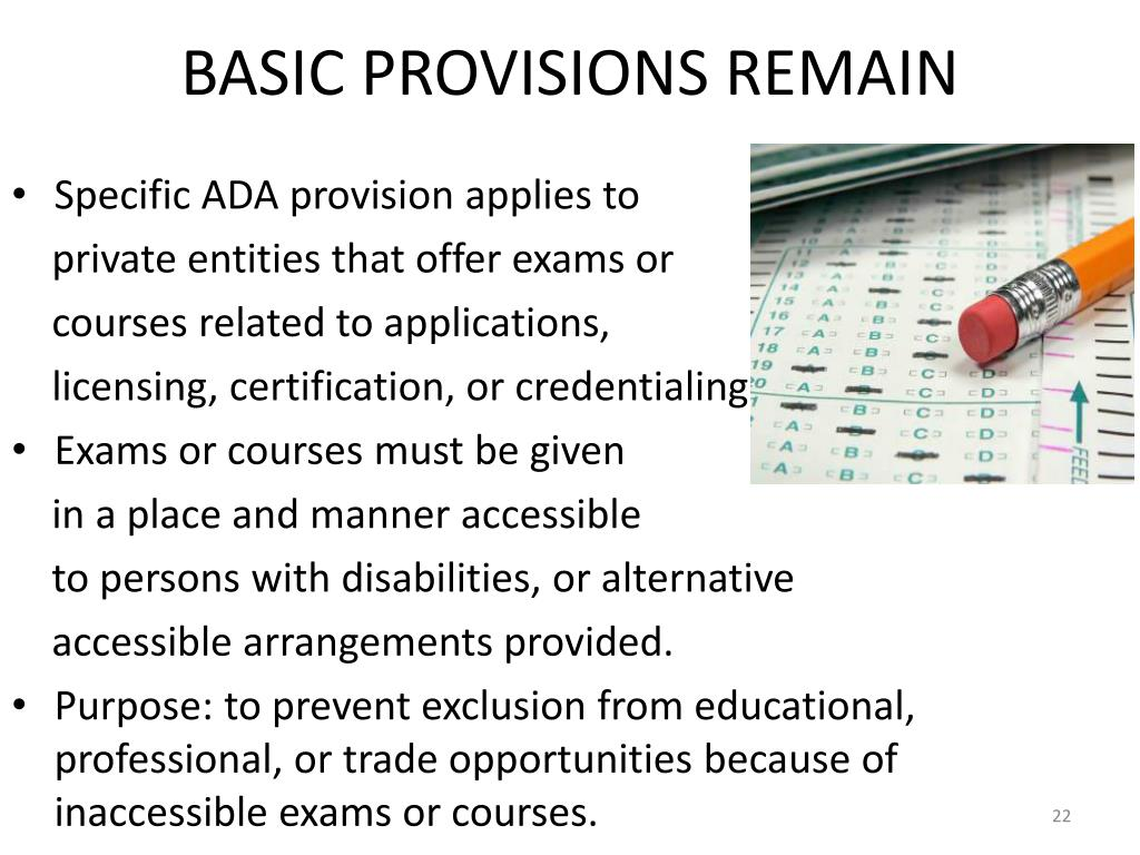 BASIC PROVISIONS REMAIN
