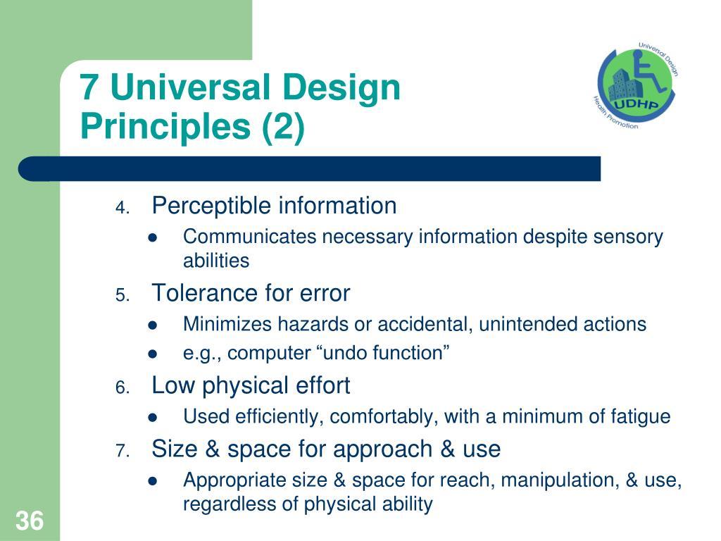 7 Universal Design