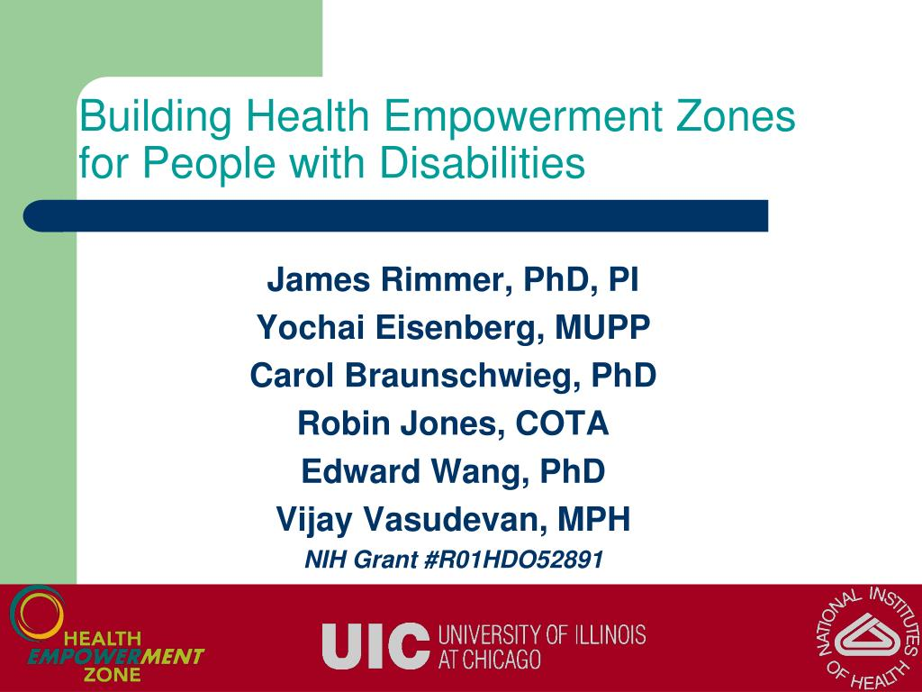 Building Health Empowerment Zones for People with Disabilities
