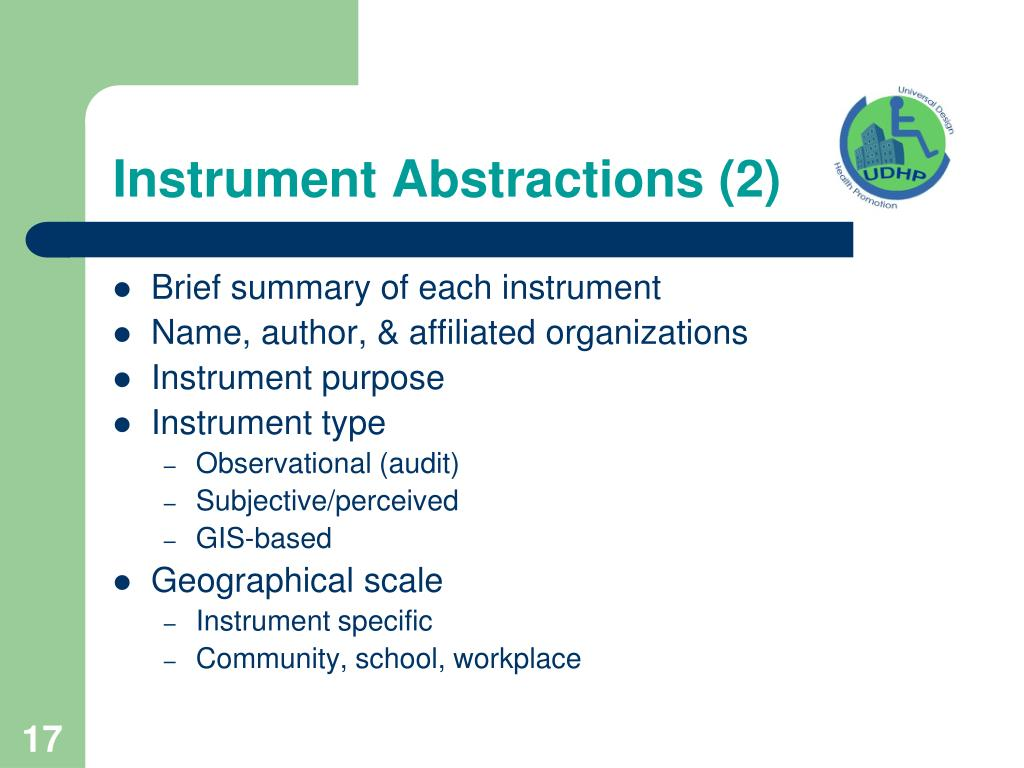 Instrument Abstractions (2)