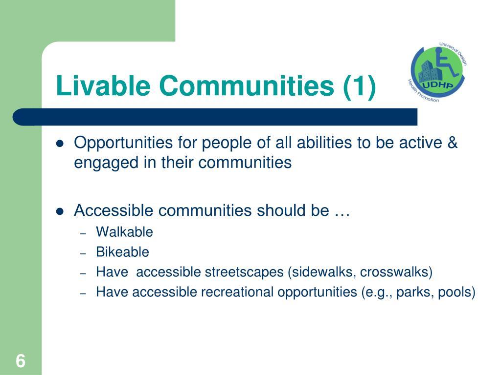 Livable Communities (1)
