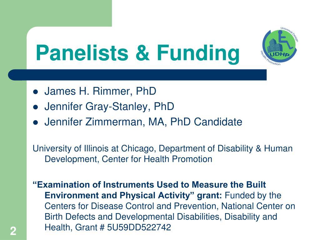 Panelists & Funding