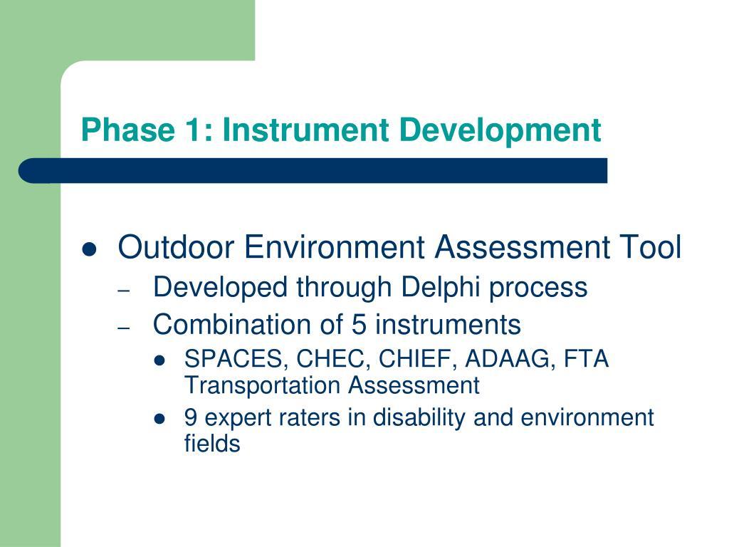 Phase 1: Instrument Development