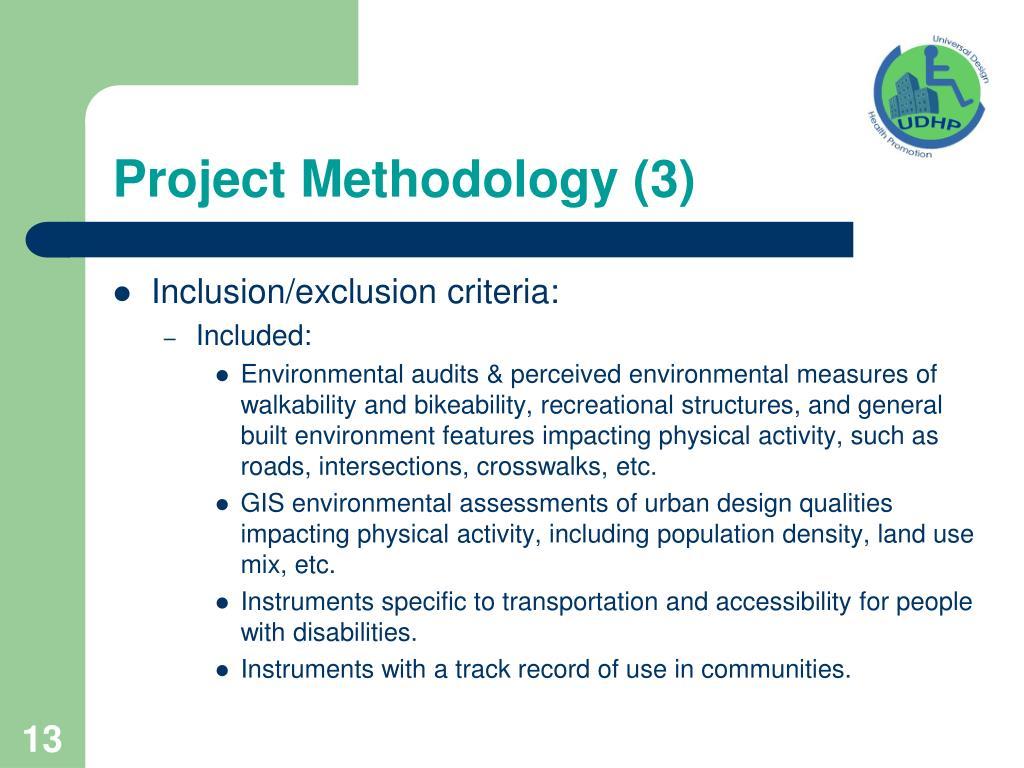 Project Methodology (3)