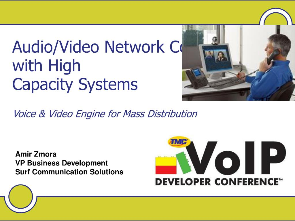 Audio/Video Network Convergence with High