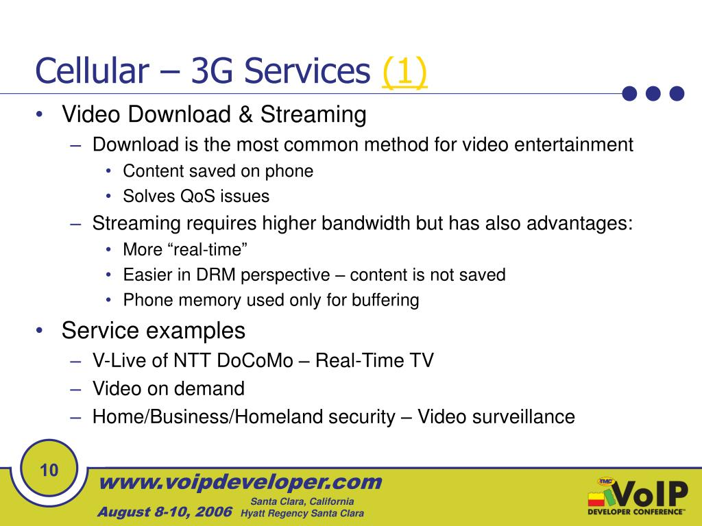 Cellular – 3G Services