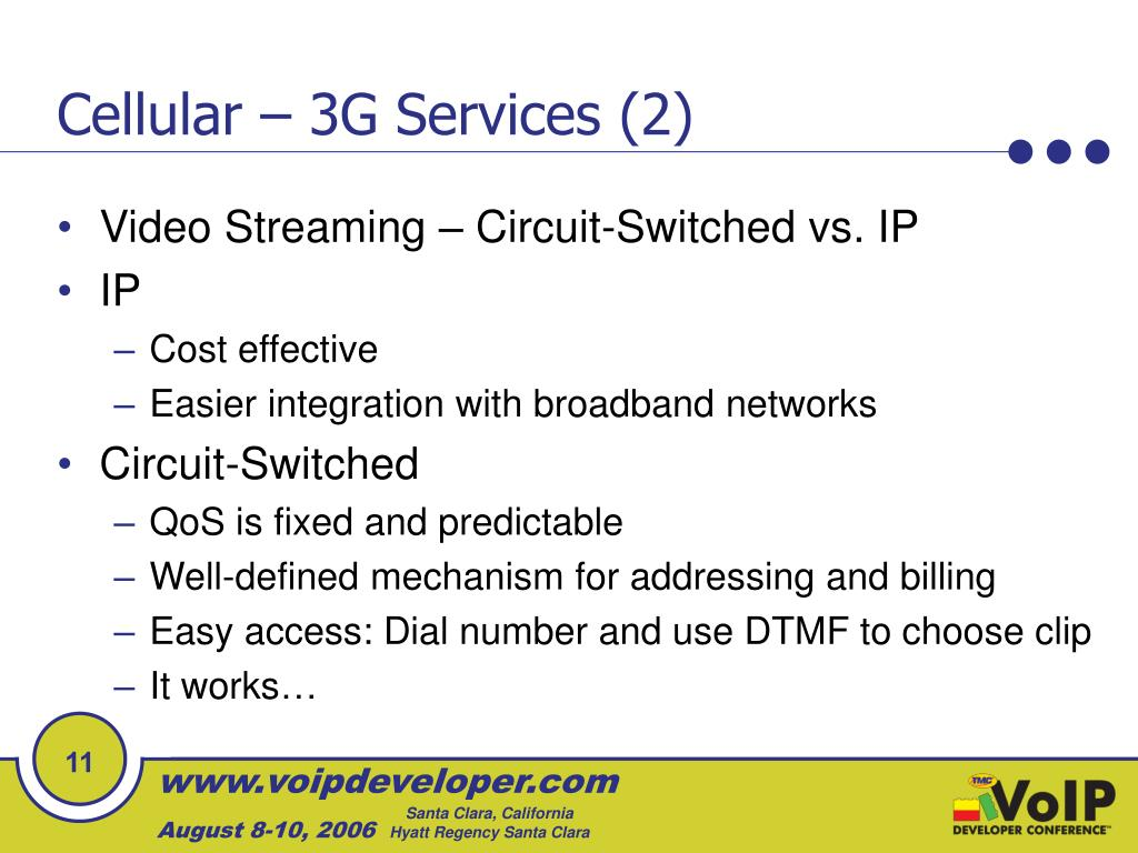 Cellular – 3G Services (2)